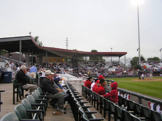 A view from the first base stands - Falcon Park